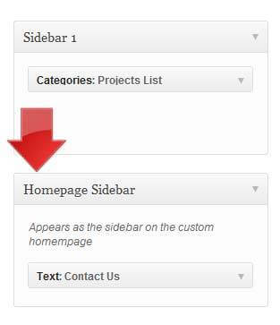 Add WordPress Sidebar Step 2
