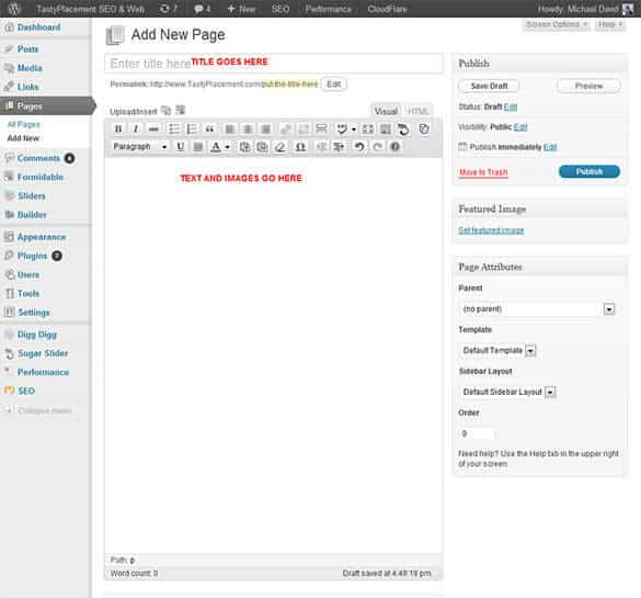 How to Add a WordPress Page